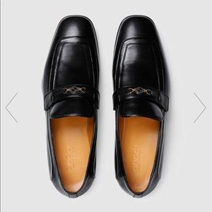 💯 🆕 GUCCI Men's Loafer with Horsebit size 8